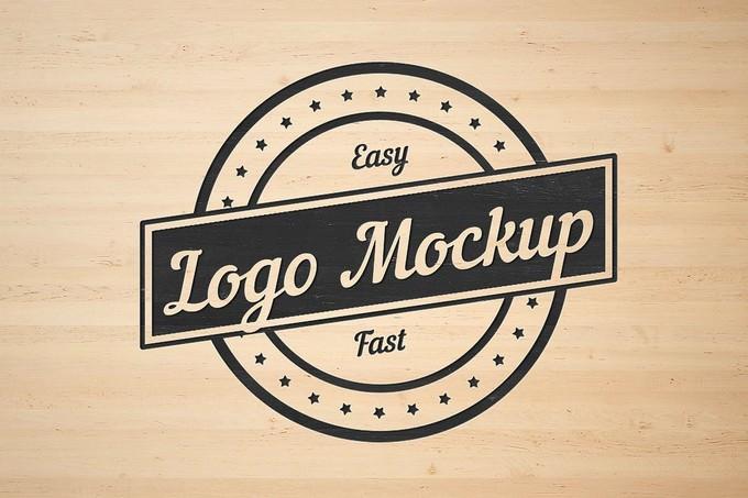 Flat Logo Mockup PSD
