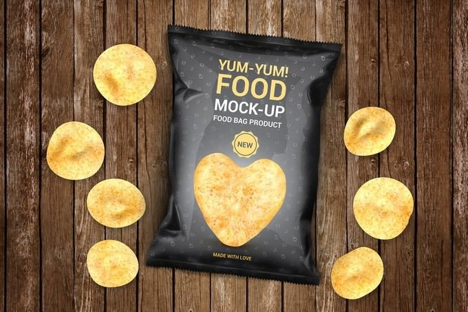 Food Bag Product Mock-Ups PSD