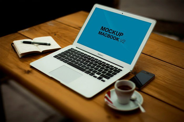 Mockup MacBook Air Screen PSD