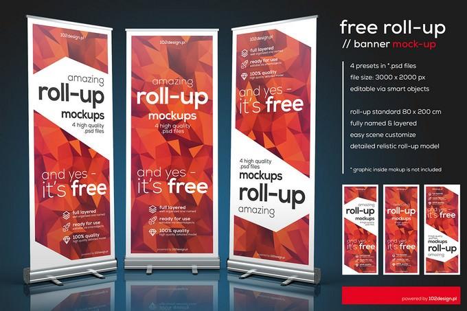 PSD - Roll-up Mockup
