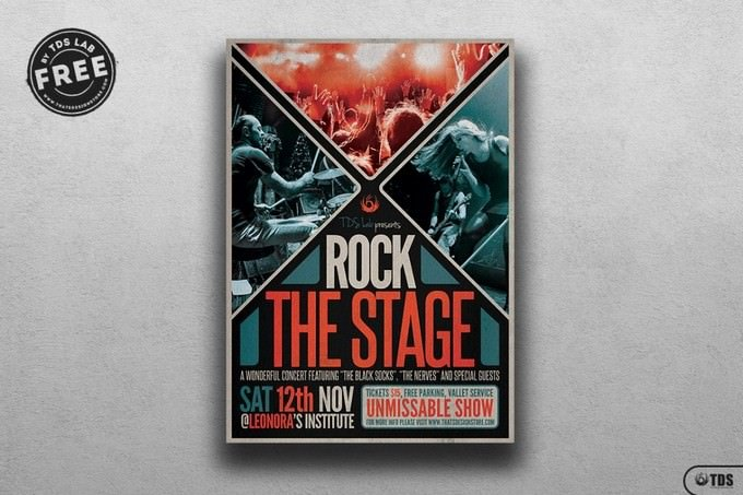 Rock the Stage Flyer Template