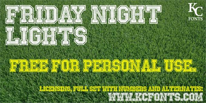 Friday Night Lights Font