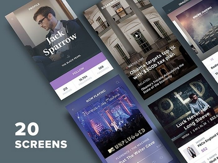 Ghost Ship Mobile UI Kit Free