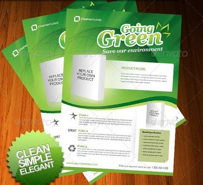 Going Green Product Flyer Template