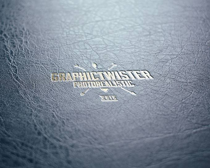 Gold Leather Stamping PSD Template