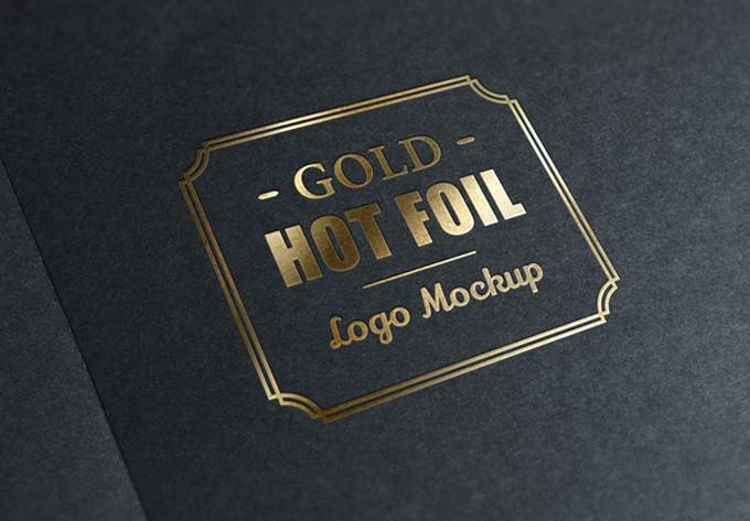 Gold Stamping PSD For Branding