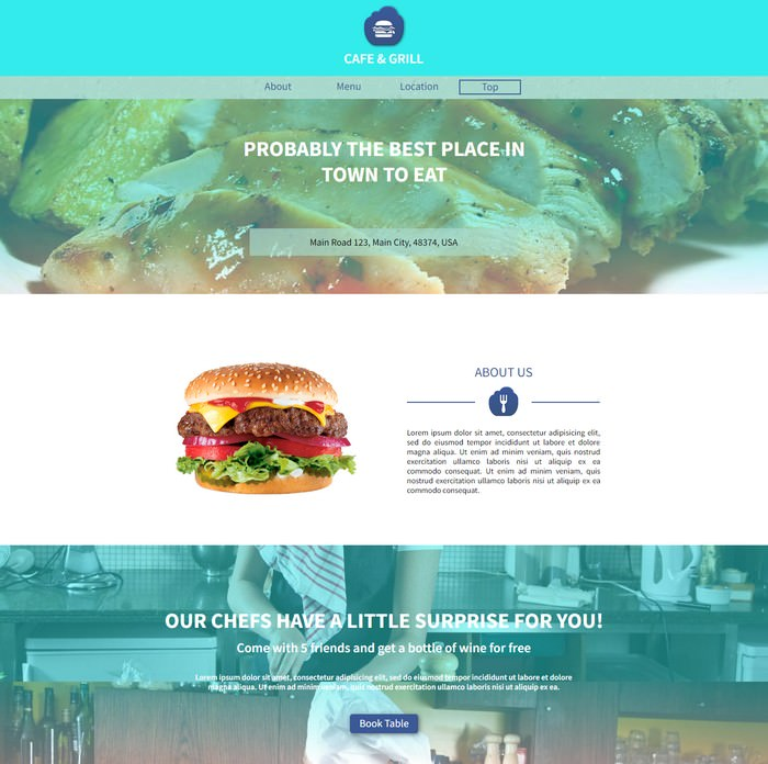 Grill - Restaurant Adobe Muse Templates
