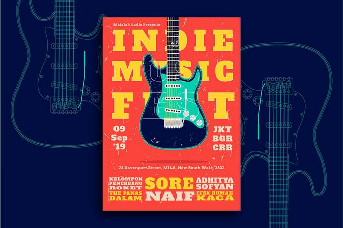 Indie Band Flyer Template