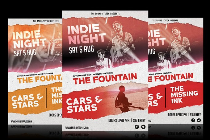 Indie Night Music Poster
