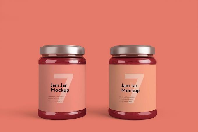Jam Jar Product Mockup PSD