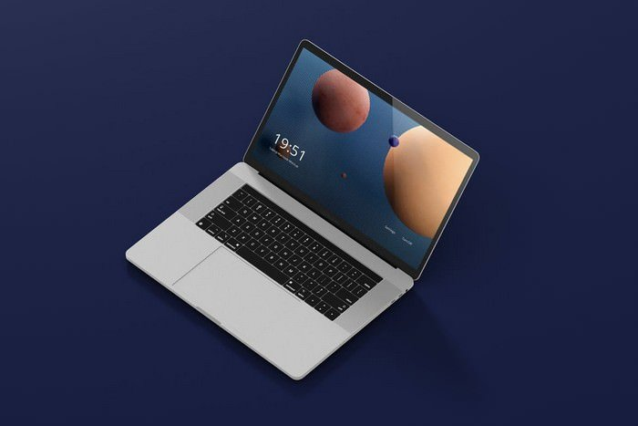 Laptop Screen Mockup PSD