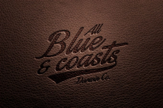Leather Logo Mock-up PSD