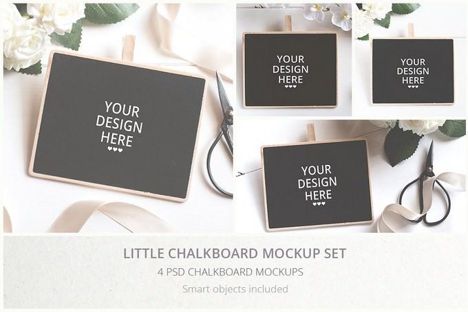 Little Chalkboard Mockup