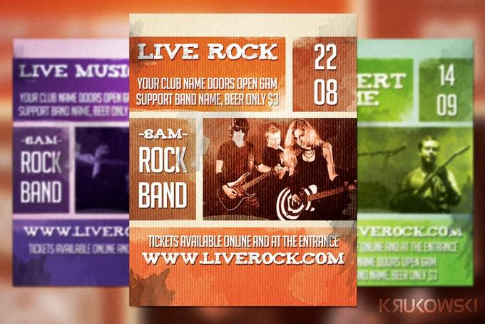 Live Rock Band Flyer