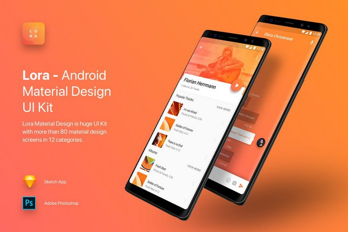 Lora - Android Material Design UI Kit
