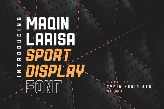 Maqin Larisa Display Font