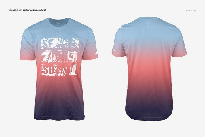 Men T-shirt Mockup Set PSD