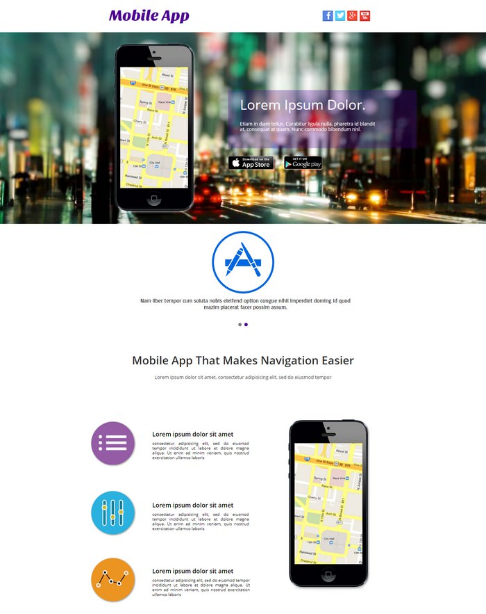 Mobile App - Adobe Muse Templates