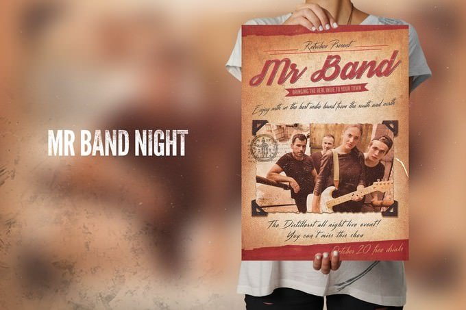 Band Flyer Poster Template