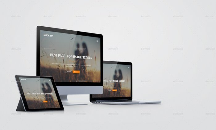 Multi Devices Responsive Screen Mockup