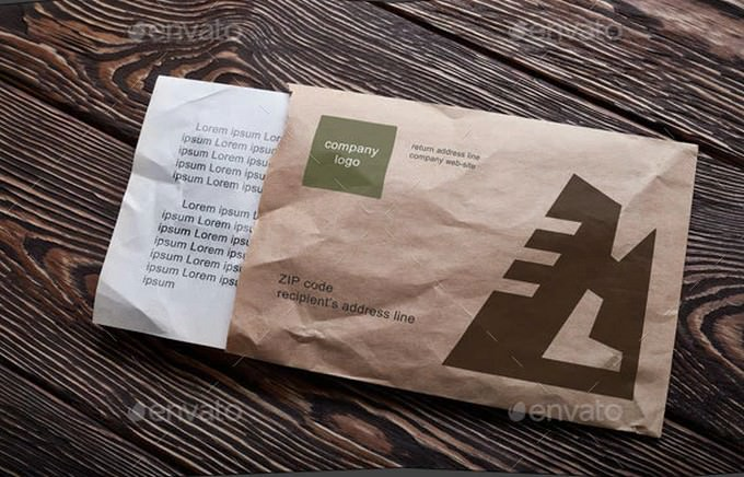 Crumpled Envelope Mock-up