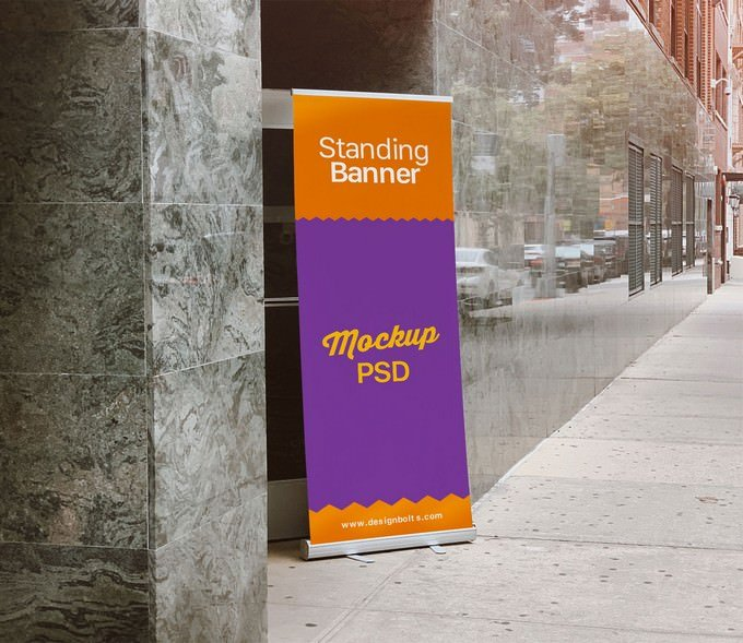 Outdoor Roll up Mockup PSD
