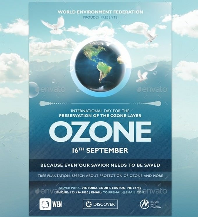 Ozone Environmental Flyer Template