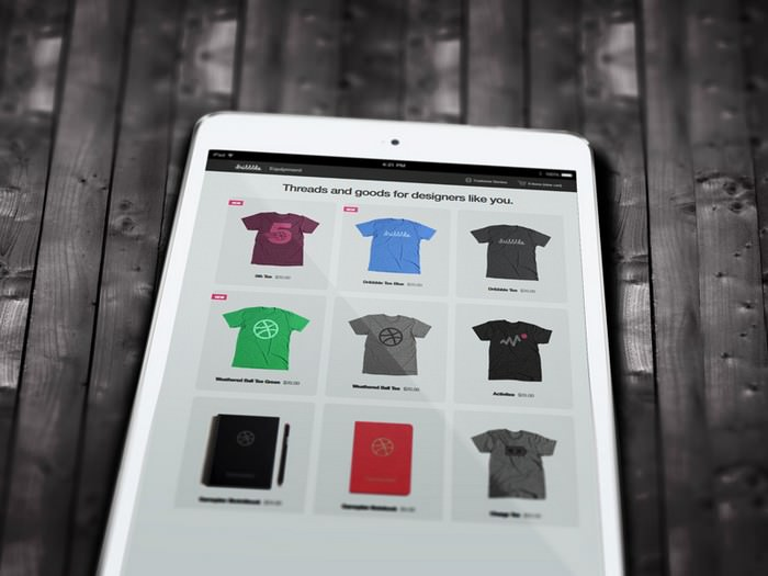 PSD Freebie - iPad Mock-up Close-up