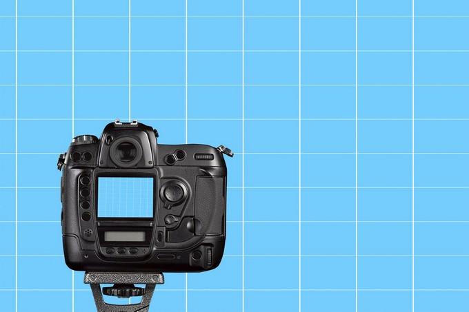 Photo Camera Mockup PSD