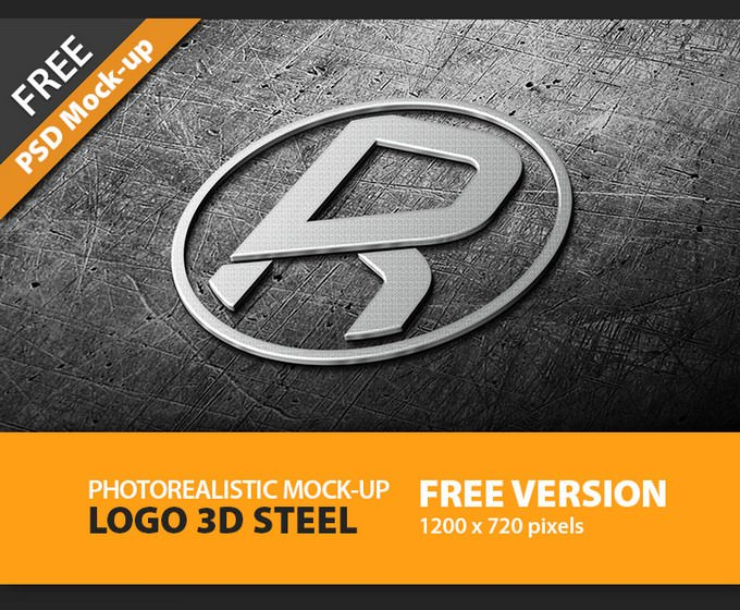 Photorealistic Logo 3D Mock-Up
