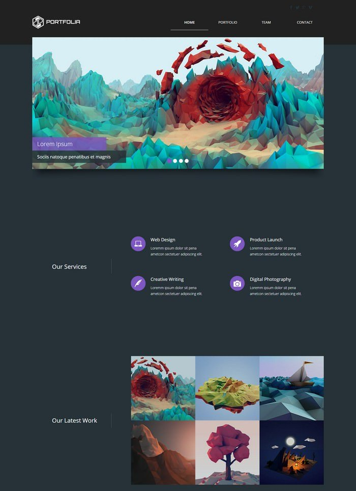 Portfolia – Adobe Muse Templates