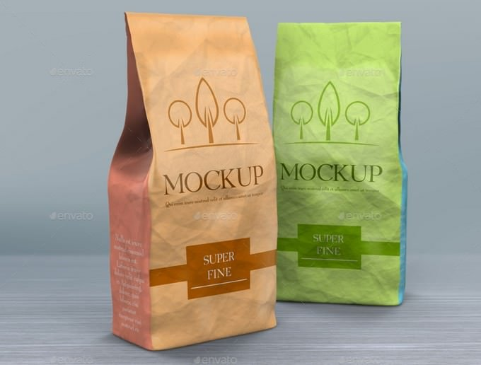 Product Paper Bags Mockup PSD