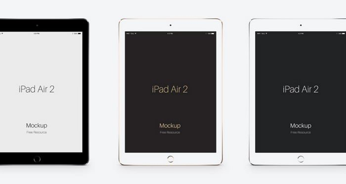 Psd iPad Air 2 Vector PSD