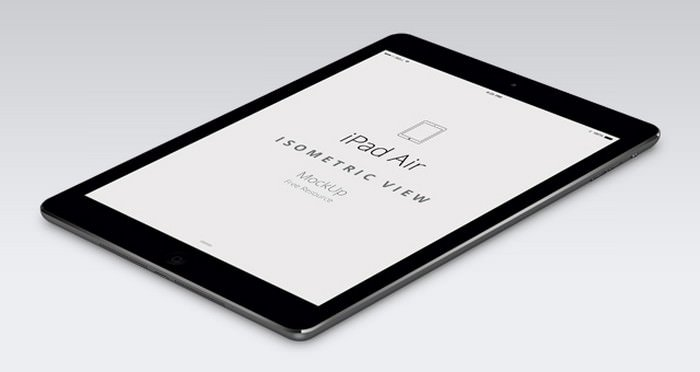 iPad Air Perspective Screen Mockup