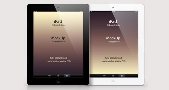 Psd iPad Retina Mockup