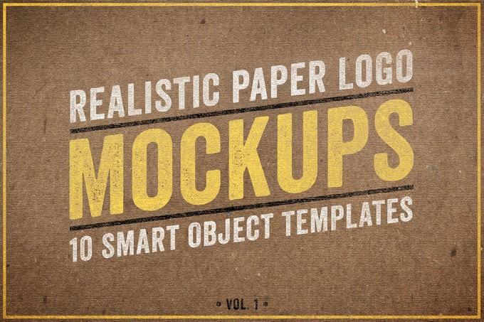 Realistic Paper Logo Mockup PSD