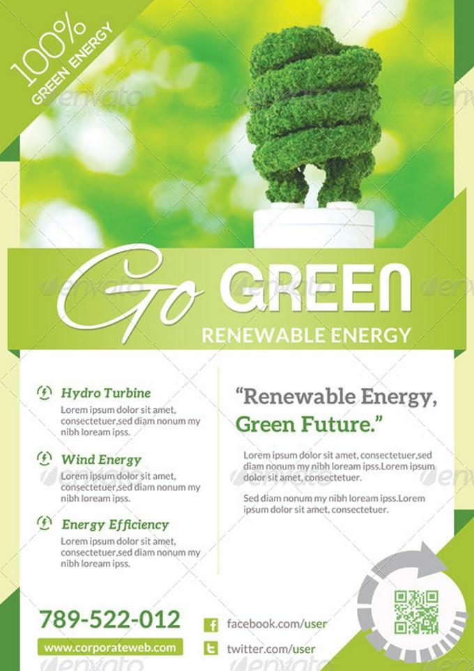 Renewable Energy - Go Green Flyer