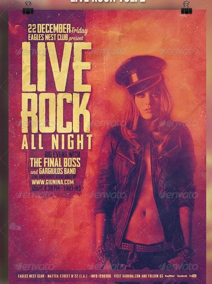 Rock Live Vol.2 Flyer Template