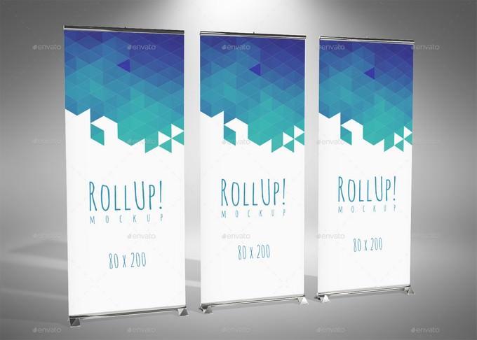 Roll Up - Mockup PSD