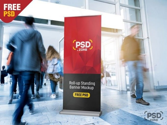 Roll-Up Standing Banner Mockup