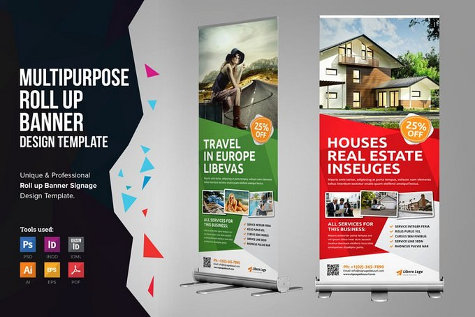 Roll up Banner Signage PSD
