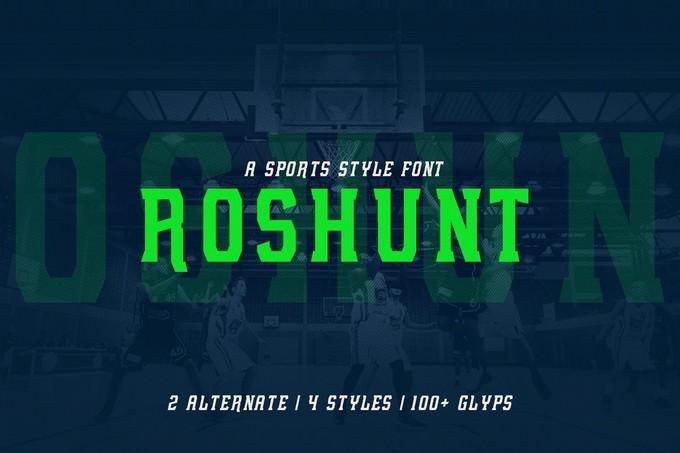 Roshunt - NFC Font