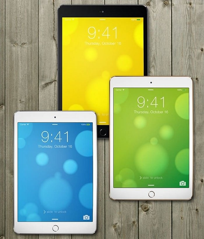 Beautiful iPad Air 2 PSD