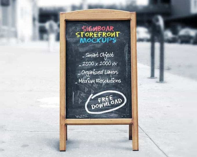 Outdoor Signboard PSD
