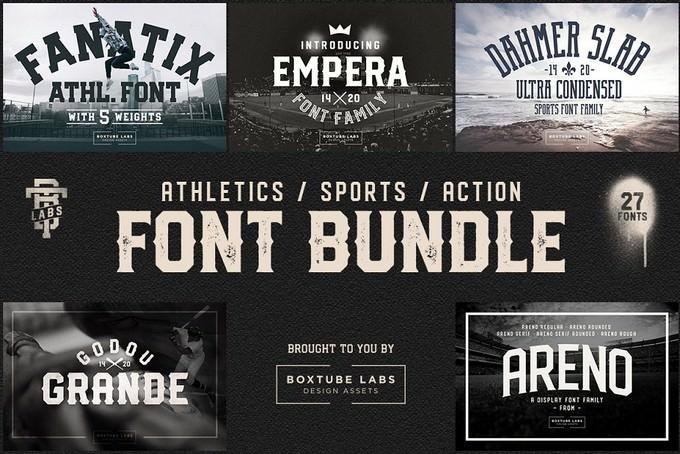 Sports Font Bundle BTL.1