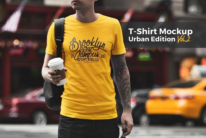 T-Shirt Mockup Urban Edition PSD