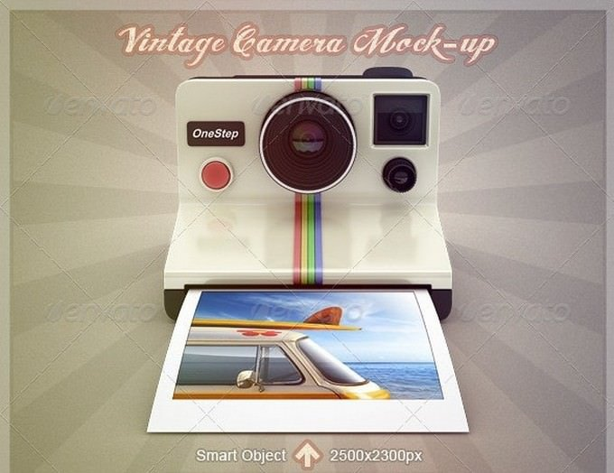 Vintage Camera Mock-Up PSD