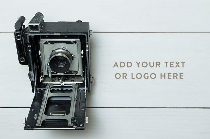 Vintage Camera Photo Mockup
