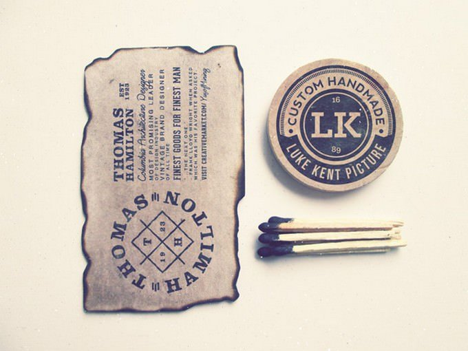 Vintage old paper, Fire stick, Badge PSD