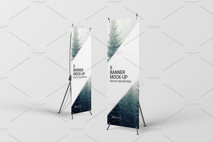 X Banner Mock-Up PSD